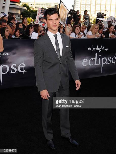 Taylor Lautner attends 'The Twilight Saga Eclipse' Los Angeles Premiere at Nokia Theatre LA Live on June 24 2010 in Los Angeles California