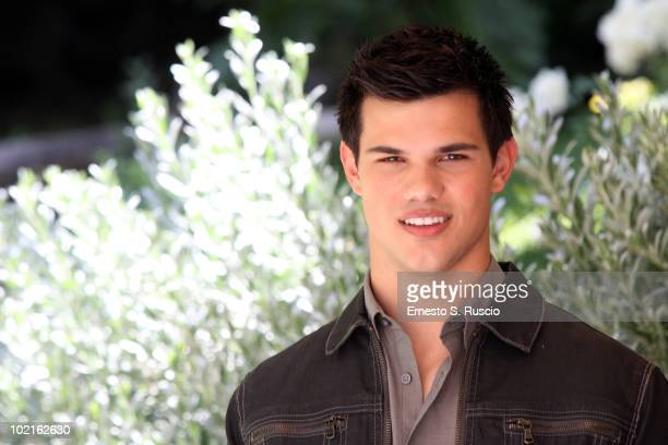 Taylor Lautner attends 'The Twilight Saga Eclipse' photocall at the Hotel Russie on June 17 2010 in Rome Italy