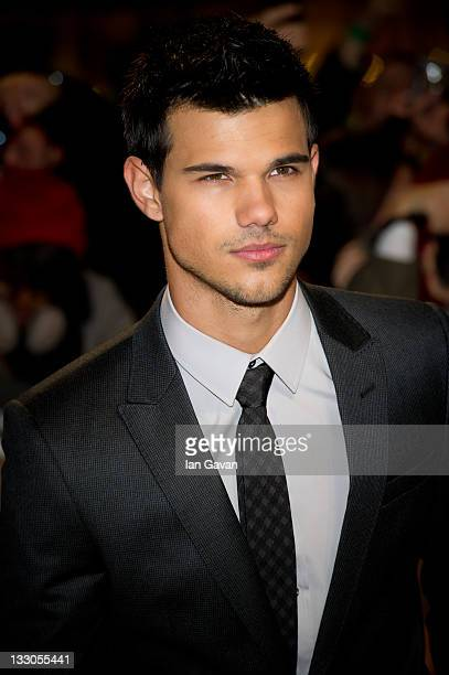 Taylor Lautner attends the UK premiere of The Twilight Saga Breaking Dawn Part 1 at Westfield Stratford City on November 16 2011 in London England