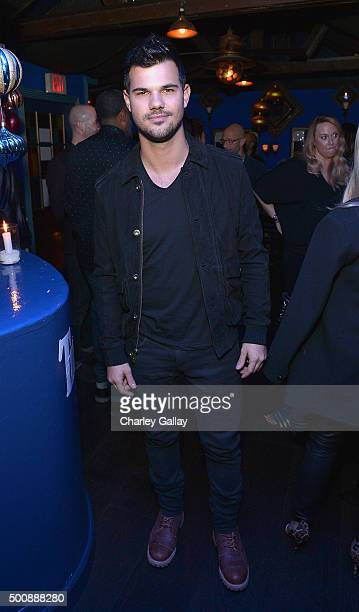 Taylor Lautner attends Timberland Celebrates Winter On the Modern Trail With Stylist Samantha McMillen on December 10 2015 in Los Angeles California