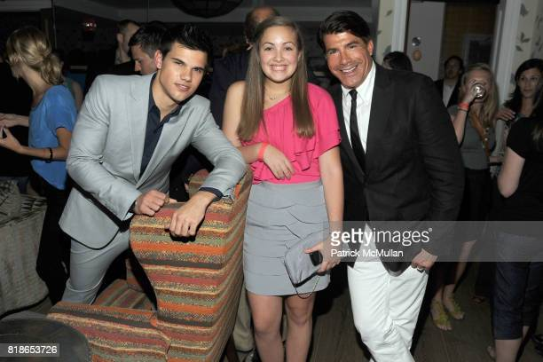 Taylor Lautner Bailey Batt and Bryan Batt attend THE CINEMA SOCIETY PIAGET host the after party for 'THE TWILIGHT SAGA ECLIPSE' at Crosby Street...