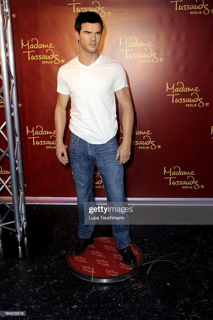 Taylor Lautner wax figure as it is unveiled at Madame Tussauds Berlin on March 19, 2013 in Berlin, Germany.