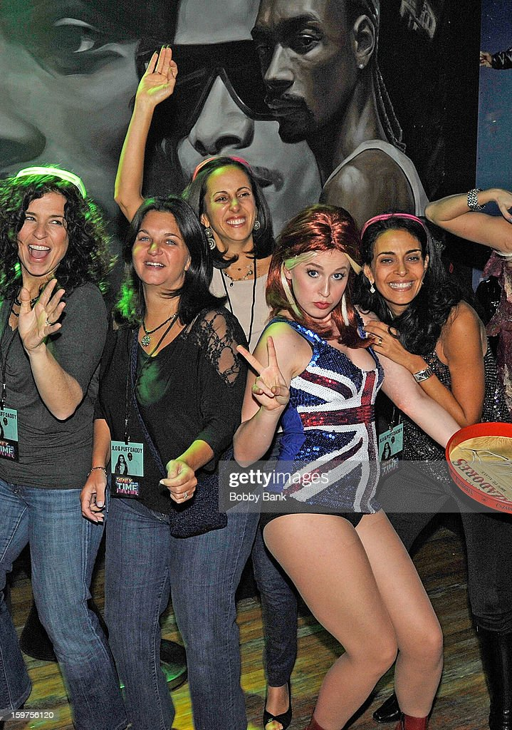 Taylor M. Marsh as 'Ginger Spice' attends Totally Tubular Time Machine at Culture Club on January 19, 2013 in New York City.