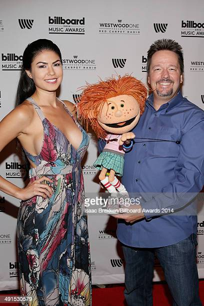 Taylor Makakoa and comedian/ventriloquist Terry Fator attend the 2014 Billboard Music Awards Artist Appreciation Lounge at the MGM Grand Garden Arena...