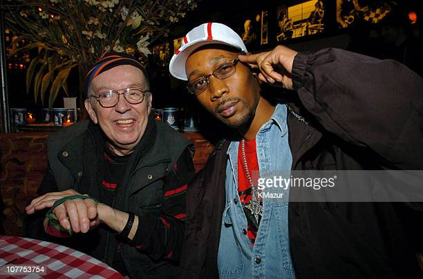 Taylor Mead and RZA during 3rd Annual Tribeca Film Festival 'Coffee and Cigarettes' After Party at City Hall Restaurant in New York City New York...