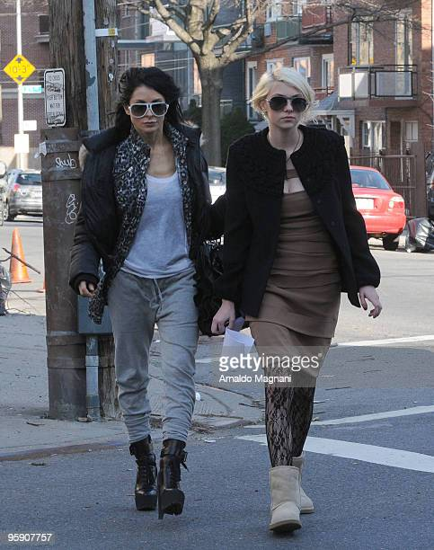 Taylor Momsen and her mother Collette Momsen are seen on the set of 'Gossip Girls' January 20 2010 in the Queens borough of New York City
