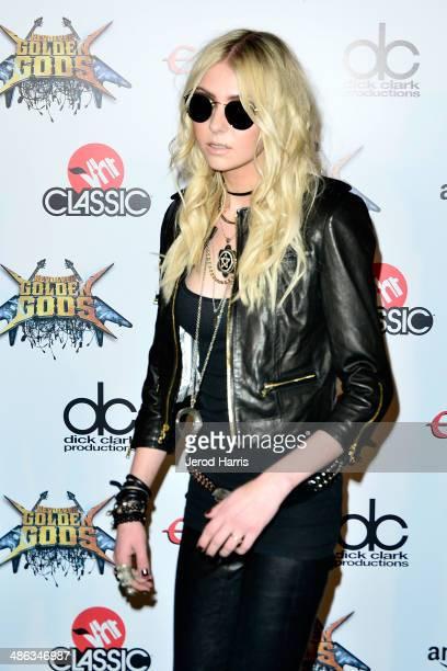 Taylor Momsen arrives at the 2014 Revolver Golden Gods Awards at Club Nokia on April 23 2014 in Los Angeles California