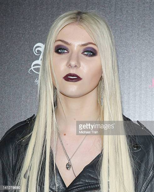 Taylor Momsen arrives at the launch party for 'Abbey Dawn By Avril Lavigne' held at The Viper Room on March 13 2012 in West Hollywood California
