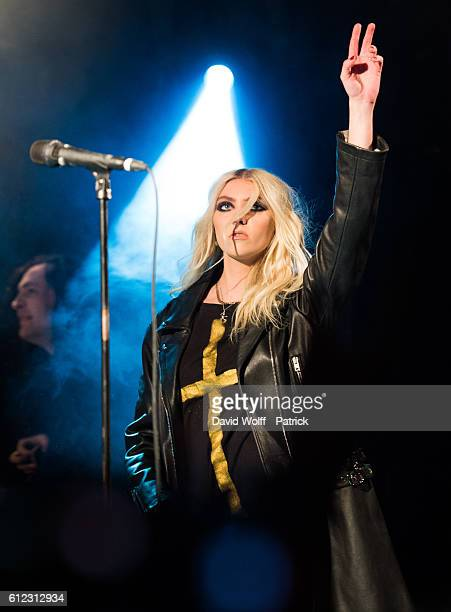 Taylor Momsen from The Pretty Reckless performs at Le Divan du Monde on October 3 2016 in Paris France