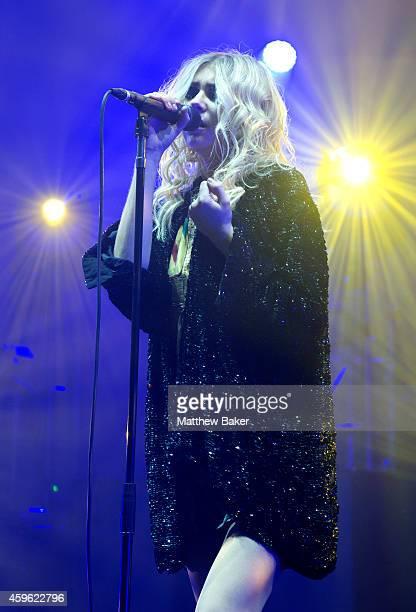 Taylor Momsen of The Pretty Reckless performs at Brixton Academy on November 26 2014 in London England