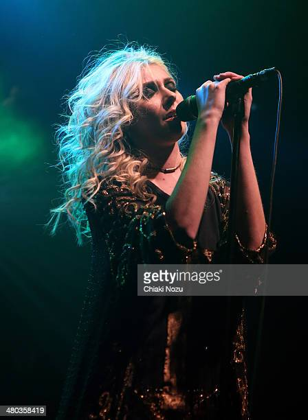 Taylor Momsen of The Pretty Reckless performs at Electric Ballroom on March 24 2014 in London England