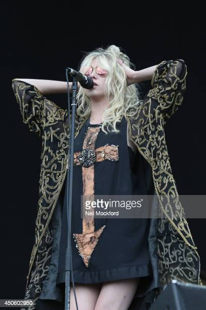 Taylor Momsen of The Pretty Reckless performs at The Isle of Wight Festival at Seaclose Park on June 14 2014 in Newport Isle of Wight