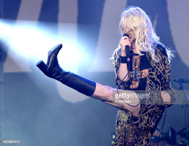 Taylor Momsen of The Pretty Reckless performs during the 2014 Quebec City Summer Festival on July 12 2014 in Quebec City Canada