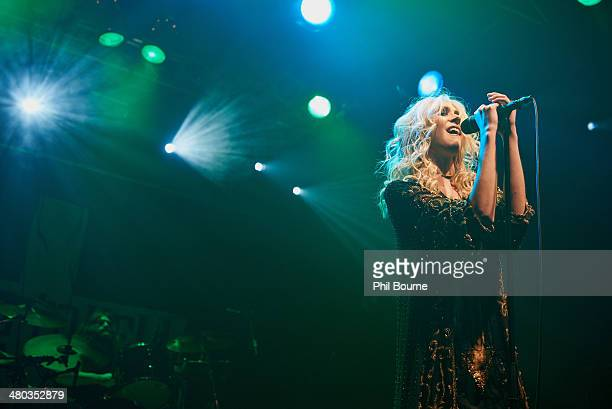 Taylor Momsen of The Pretty Reckless performs on stage at Electric Ballroom on March 24 2014 in London United Kingdom