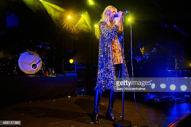 Taylor Momsen of The Pretty Reckless performs on stage at Rock City on November 17 2014 in Nottingham United Kingdom