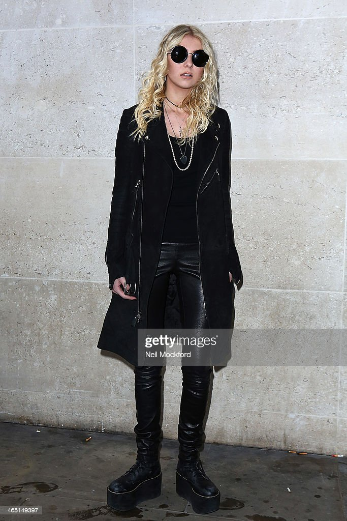 Taylor Momson seen at BBC Radio One on January 26, 2014 in London, England.