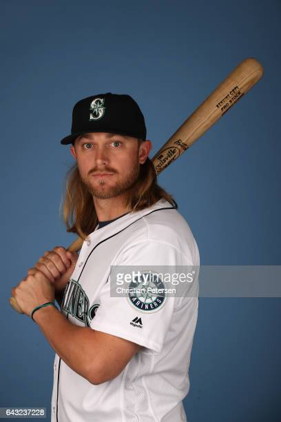 Taylor Motter of the Seattle Mariners poses for a portrait during photo day at Peoria Stadium on February 20 2017 in Peoria Arizona