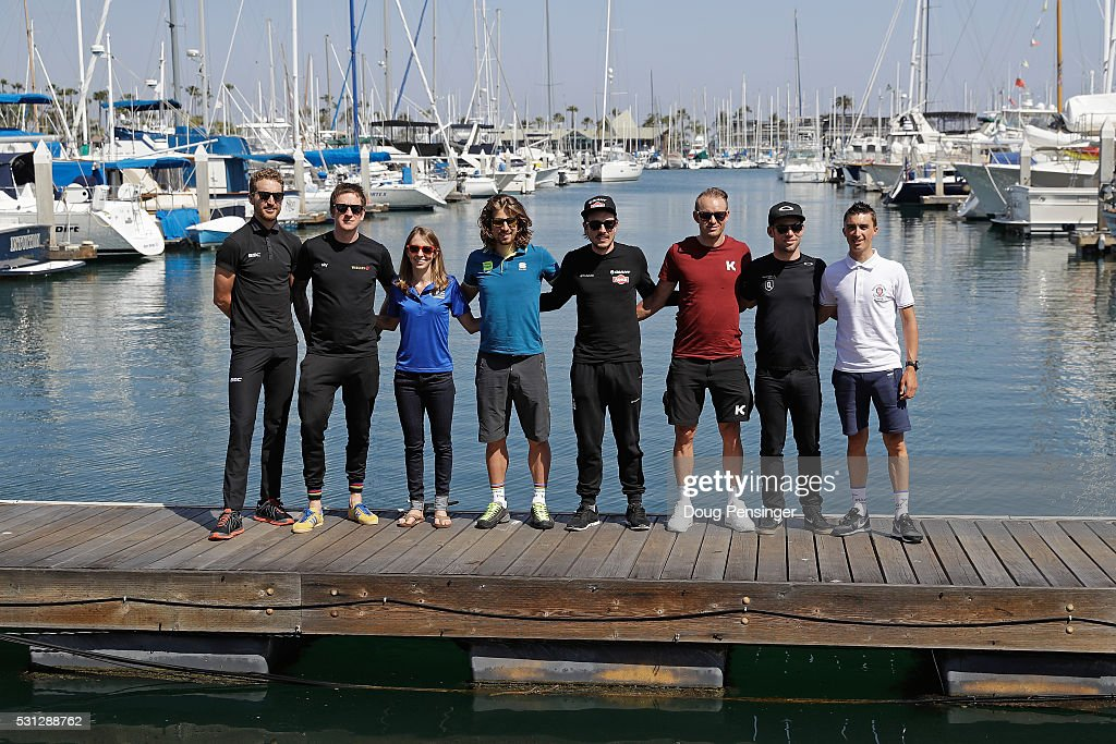 <a gi-track='captionPersonalityLinkClicked' href=/galleries/search?phrase=Taylor+Phinney&family=editorial&specificpeople=4645036 ng-click='$event.stopPropagation()'>Taylor Phinney</a> of the United States riding for BMC Racing. Sir <a gi-track='captionPersonalityLinkClicked' href=/galleries/search?phrase=Bradley+Wiggins&family=editorial&specificpeople=182490 ng-click='$event.stopPropagation()'>Bradley Wiggins</a> of Great Britain riding for Team Wiggins, Katie Hall of the United States riding for UnitedHealthcare, <a gi-track='captionPersonalityLinkClicked' href=/galleries/search?phrase=Peter+Sagan&family=editorial&specificpeople=4846179 ng-click='$event.stopPropagation()'>Peter Sagan</a> of Slovakia riding for Tinkoff, John Degenkold of Germany riding for Team Giant-Alpecin, <a gi-track='captionPersonalityLinkClicked' href=/galleries/search?phrase=Alexander+Kristoff&family=editorial&specificpeople=6165249 ng-click='$event.stopPropagation()'>Alexander Kristoff</a> of Norway riding for Team Katusha, <a gi-track='captionPersonalityLinkClicked' href=/galleries/search?phrase=Mark+Cavendish&family=editorial&specificpeople=684957 ng-click='$event.stopPropagation()'>Mark Cavendish</a> of Great Britain riding for Team Dimension Data for Qhubeka and Julian Alphilppe of France riding for Ettix - Quick-Step pose for a photo following a press conference at the San Diego Yacht Club ahead of the 2016 Amgen Tour of California on May 13, 2016 in San Diego, California.