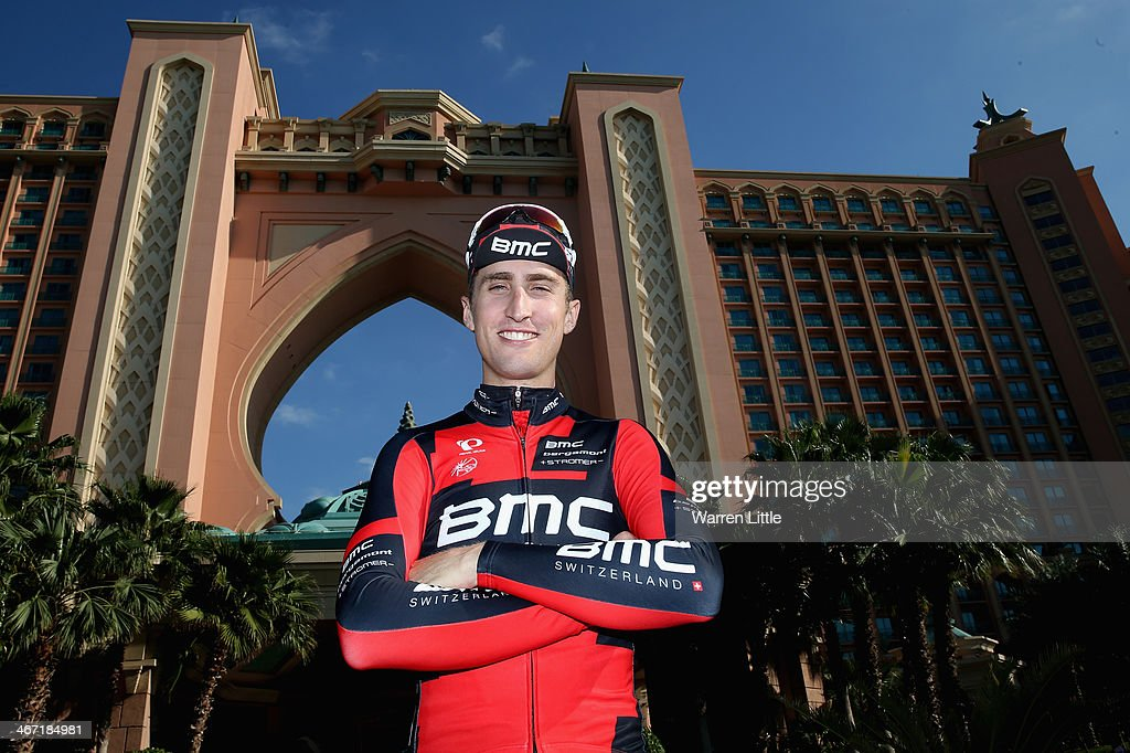 Taylor Phinney of the USA and BMC Racing Team poses for a picture after stage two of the 2014 Tour of Dubai on February 6, 2014 in Dubai, United Arab Emirates.