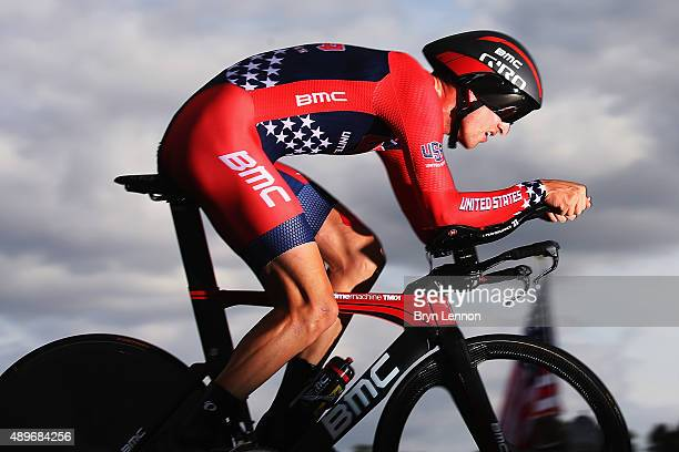 Taylor Phinney of the USA in action during the Elite Men Time Trial on day five of the UCI Road World Championships on September 23 2015 in Richmond...