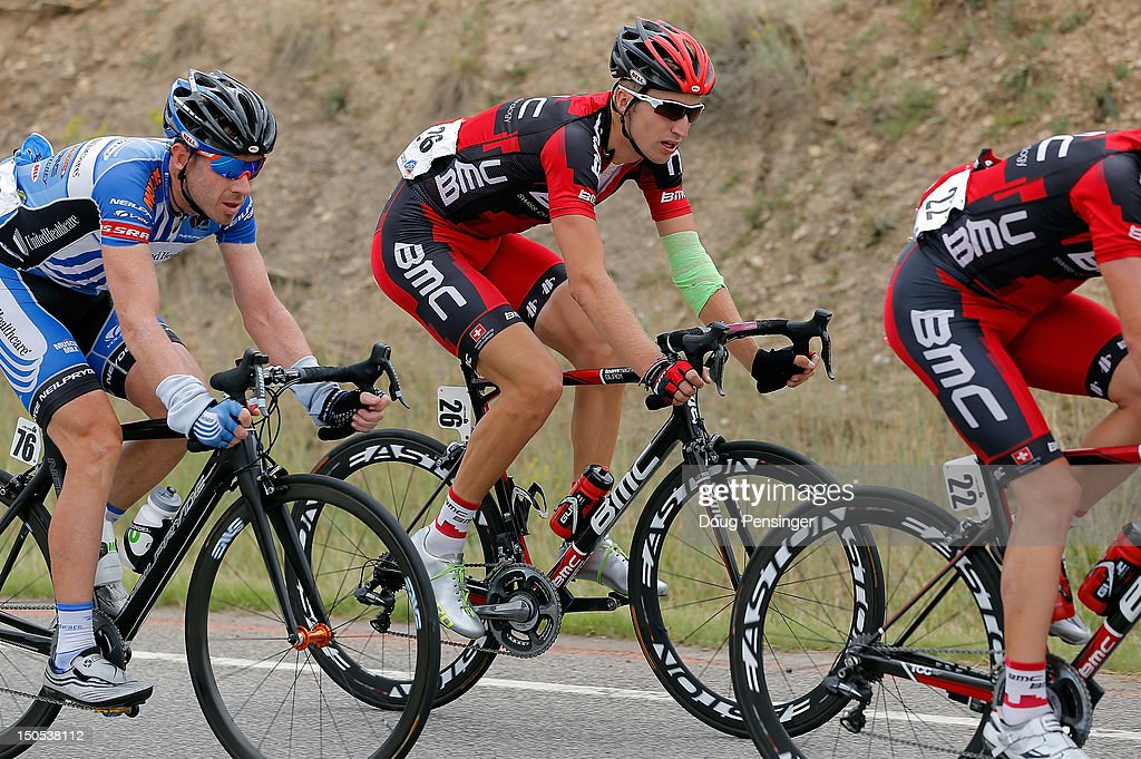 <a gi-track='captionPersonalityLinkClicked' href=/galleries/search?phrase=Taylor+Phinney&family=editorial&specificpeople=4645036 ng-click='$event.stopPropagation()'>Taylor Phinney</a> of the USA riding for BMC Racing rides with a bandaged arm after crashing in stage one of the USA Pro Challenge from Durango to Telluride on August 20, 2012 in Montezuma County, Colorado.