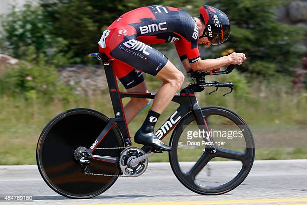 Taylor Phinney of United States riding for BMC Racing races to sixth place in the individual time trial during stage five of the 2015 USA Pro...