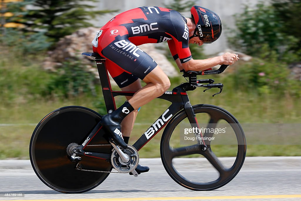<a gi-track='captionPersonalityLinkClicked' href=/galleries/search?phrase=Taylor+Phinney&family=editorial&specificpeople=4645036 ng-click='$event.stopPropagation()'>Taylor Phinney</a> of United States riding for BMC Racing races to sixth place in the individual time trial during stage five of the 2015 USA Pro Challenge on August 21, 2015 in Breckenridge, Colorado.