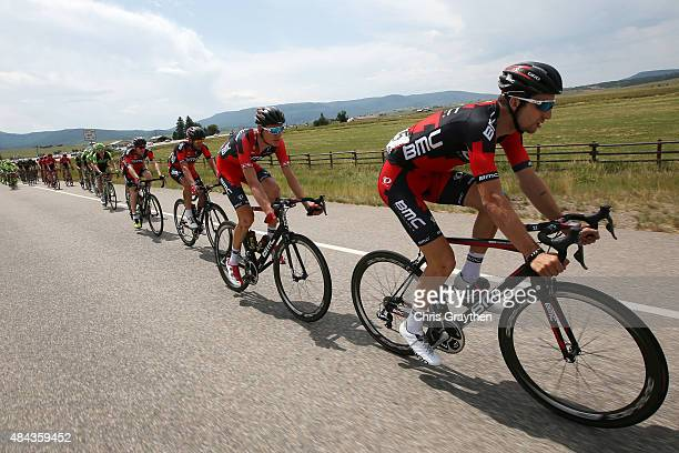 Taylor Phinney of United States riding for BMC Racing rides in the peloton during Stage One of the 2015 USA Pro Cycling Challenge on August 17 2015...