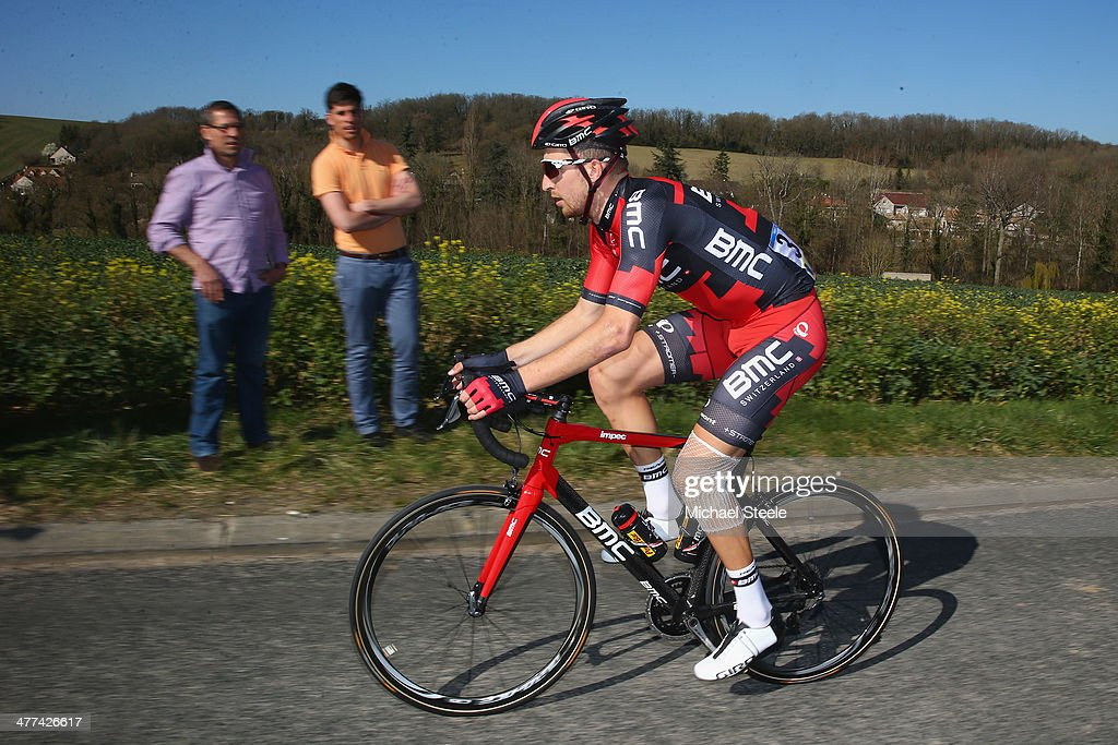 <a gi-track='captionPersonalityLinkClicked' href=/galleries/search?phrase=Taylor+Phinney&family=editorial&specificpeople=4645036 ng-click='$event.stopPropagation()'>Taylor Phinney</a> of USA and BMC Racing Team during Stage 1 of the Paris-Nice race on March 9, 2014 in Mantes-la-Jolie, France.
