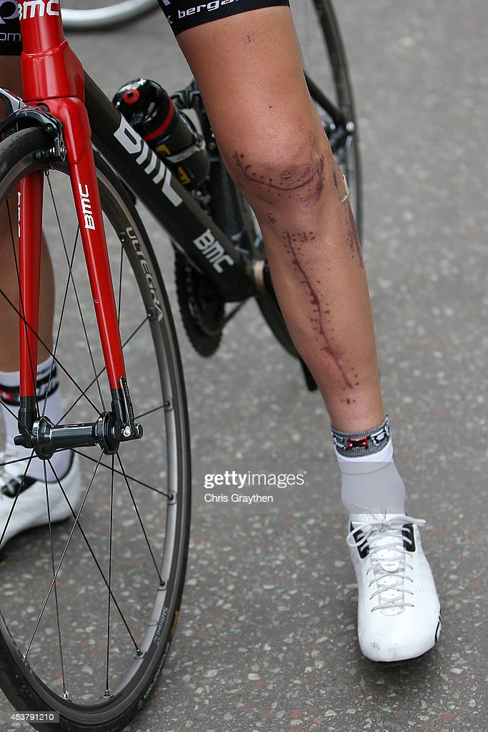 <a gi-track='captionPersonalityLinkClicked' href=/galleries/search?phrase=Taylor+Phinney&family=editorial&specificpeople=4645036 ng-click='$event.stopPropagation()'>Taylor Phinney</a> stands near the BMC Racing Team bus during stage one of the 2014 USA Pro Challenge on August 18, 2014 in Aspen, Colorado.