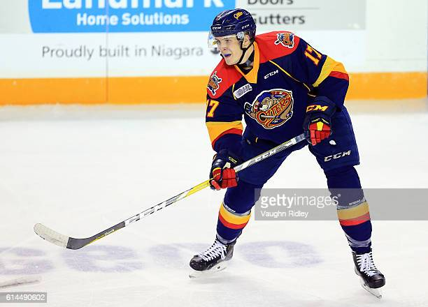 Taylor Raddysh of the Erie Otters skates during an OHL game against the Niagara IceDogs at the Meridian Centre on October 6 2016 in St Catharines...