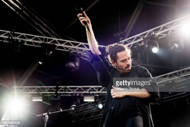Taylor Rice of American indie rock band Local Natives performs on stage during Primavera Sound Festival 2017 Day 1 at Parc del Forum on May 31 2017...