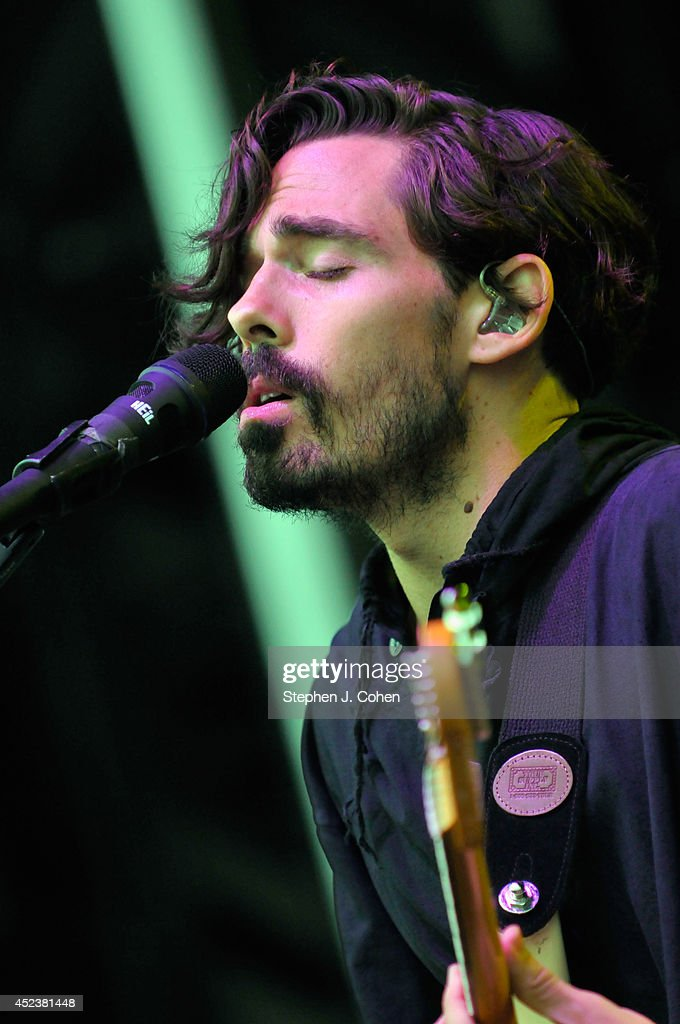 Taylor Rice of Local Natives performs during the 2014 Forecastle Music Festival at Louisville Waterfront Park on July 18, 2014 in Louisville, Kentucky.