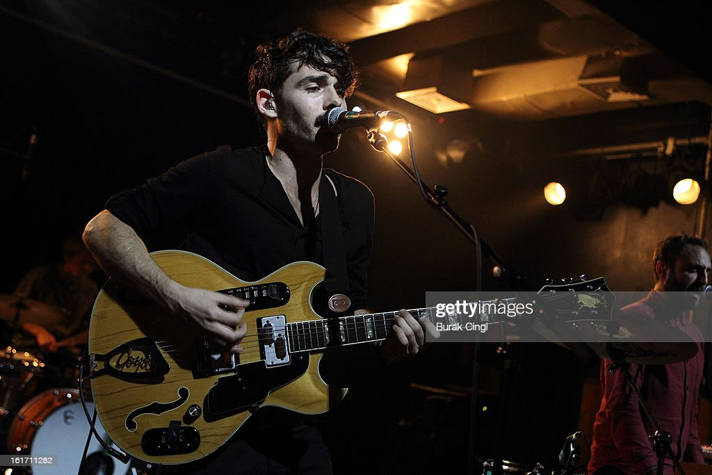 Taylor Rice of Local Natives performs on stage at Scala on February 14, 2013 in London, England.