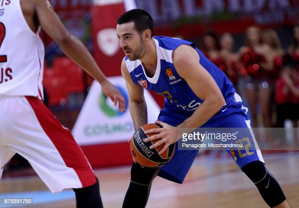Taylor Rochestie #22 of Crvena Zvezda mts Belgrade in action during the 2017/2018 Turkish Airlines EuroLeague Regular Season Round 8 game between...