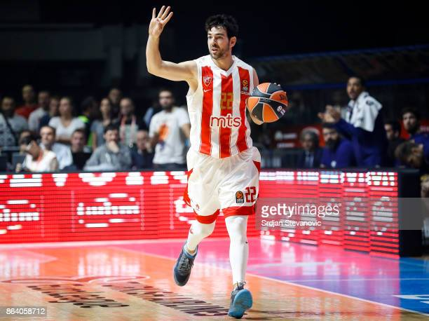 Taylor Rochestie of Crvena Zvezda in action during the 2017/2018 Turkish Airlines EuroLeague Regular Season game between Crvena Zvezda mts Belgrade...