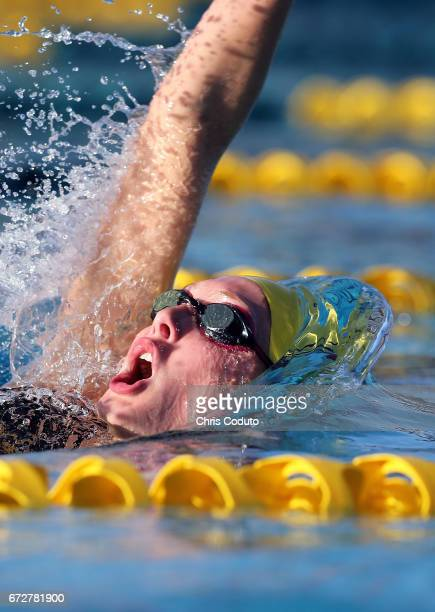 Taylor Ruck competes in the finals of the women's 200 meter individual medley on day three of the Arena Pro Swim Series Mesa at Skyline Aquatic...