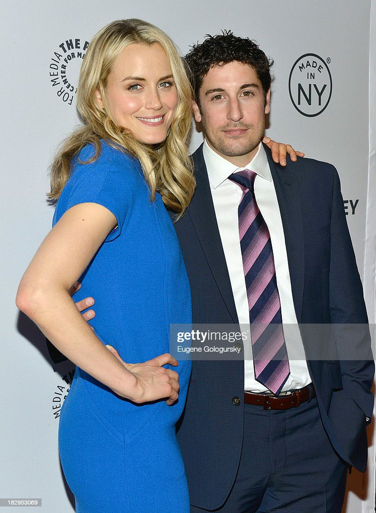 Taylor Schilling and Jason Biggs attend 'Orange Is the New Black' during 2013 PaleyFest: Made In New York at The Paley Center for Media on October 2, 2013 in New York City.