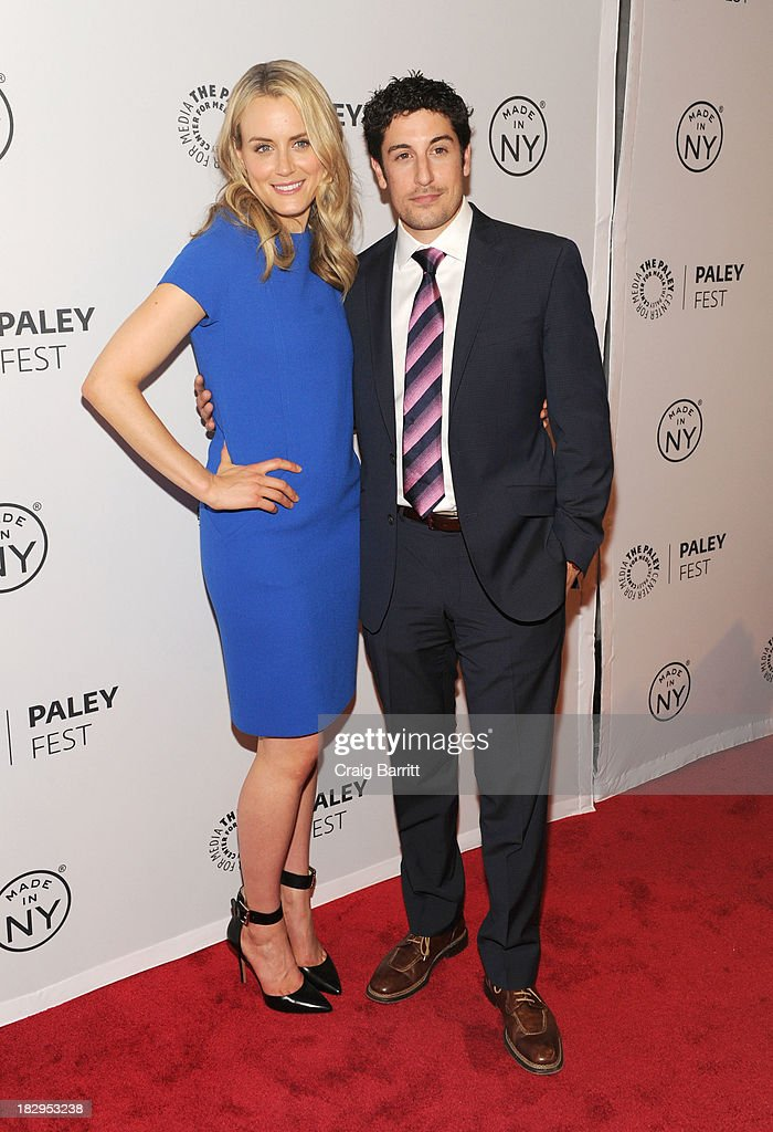 <a gi-track='captionPersonalityLinkClicked' href=/galleries/search?phrase=Taylor+Schilling&family=editorial&specificpeople=5852086 ng-click='$event.stopPropagation()'>Taylor Schilling</a> and <a gi-track='captionPersonalityLinkClicked' href=/galleries/search?phrase=Jason+Biggs+-+Actor&family=editorial&specificpeople=210701 ng-click='$event.stopPropagation()'>Jason Biggs</a> attend 'Orange Is the New Black' during 2013 PaleyFest: Made In New York at The Paley Center for Media on October 2, 2013 in New York City.