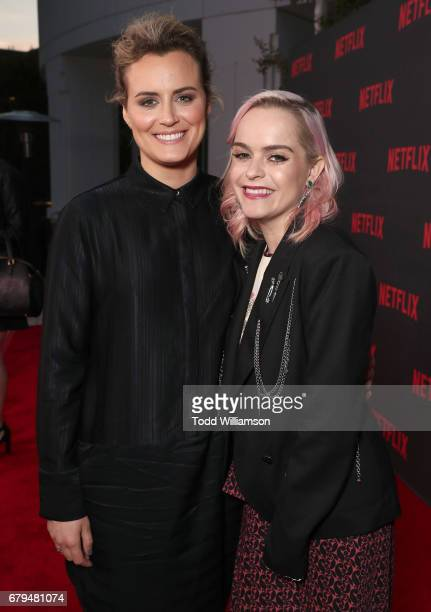 Taylor Schilling and Taryn Manning attend a Netflix's 'Orange Is The New Black' For Your Consideration Event at Saban Media Center on May 5 2017 in...