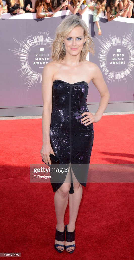<a gi-track='captionPersonalityLinkClicked' href=/galleries/search?phrase=Taylor+Schilling&family=editorial&specificpeople=5852086 ng-click='$event.stopPropagation()'>Taylor Schilling</a> arrives at the 2014 MTV Video Music Awards at The Forum on August 24, 2014 in Inglewood, California.