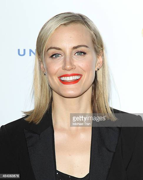 Taylor Schilling arrives at the Television Academy Performers Nominee Reception for The 66th Emmy Awards held at Spectra by Wolfgang Puck at the...