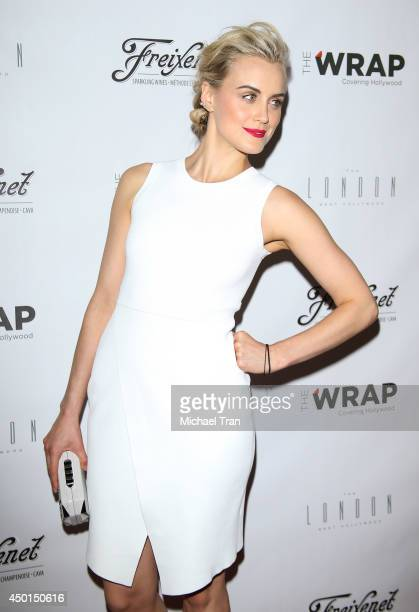 Taylor Schilling arrives at TheWrap's First Annual Emmy Party held at The London West Hollywood on June 5 2014 in West Hollywood California