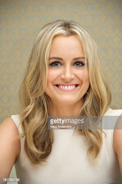 Taylor Schilling at the 'Orange Is The New Black' Press Conference at the Four Seasons Hotel on September 23 2013 in Beverly Hills California