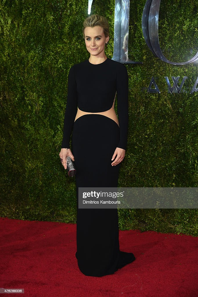 Taylor Schilling attends the 2015 Tony Awards at Radio City Music Hall on June 7 2015 in New York City