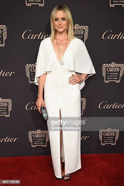 Taylor Schilling attends the Cartier Fifth Avenue Grand Reopening Event at the Cartier Mansion on September 7 2016 in New York City