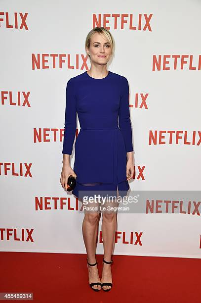 Taylor Schilling attends the 'Netflix' Launch Party at Le Faust on September 15 2014 in Paris France