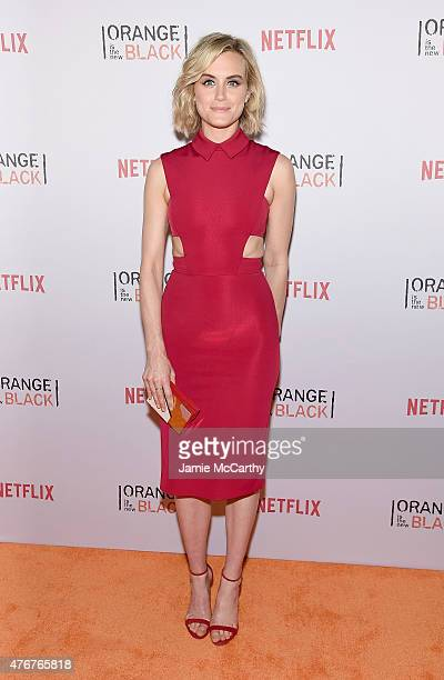 Taylor Schilling attends the 'Orangecon' Fan Event at Skylight Clarkson SQ on June 11 2015 in New York City