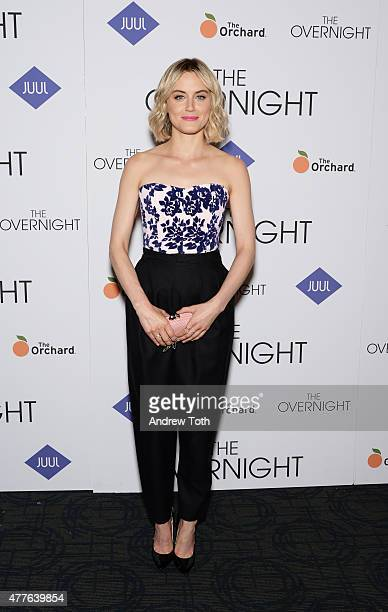 Taylor Schilling attends 'The Overnight' premiere at Sunshine Landmark on June 18 2015 in New York City