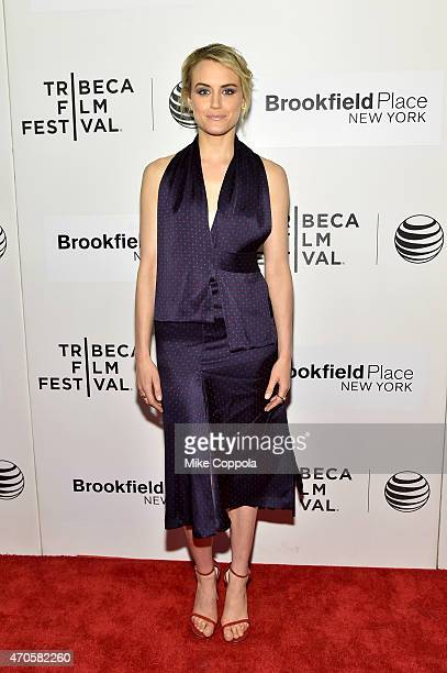 Taylor Schilling attends the premiere of 'The Overnight' during the 2015 Tribeca Film Festival at BMCC Tribeca PAC on April 21 2015 in New York City